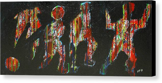 Abstract Canvas Print featuring the painting The Finish Line by Paul Freidin