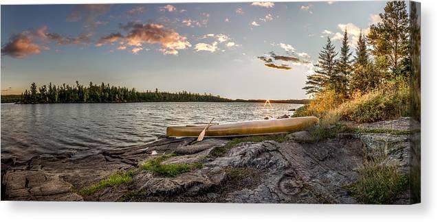 Canoe Canvas Print featuring the photograph Canoe // Bwca, Minnesota by Nicholas Parker