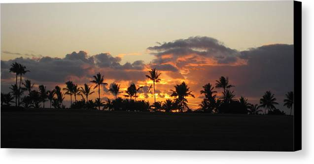 Sunset Canvas Print featuring the photograph Paradise by Ashley Butler