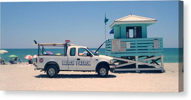 Beach Canvas Print featuring the photograph Beach Patrol by Steven Scott