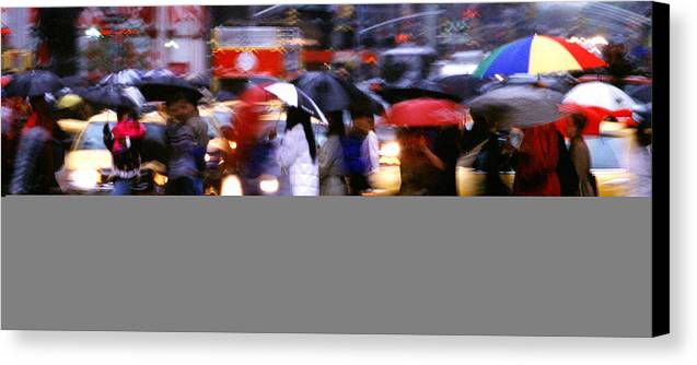 Wet Canvas Print featuring the photograph Umbrellas by Brad Rickerby