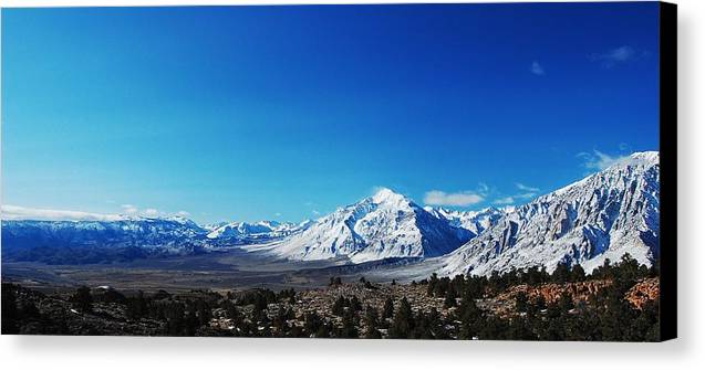 Mountains Canvas Print featuring the photograph Panorama by Jessica Roth