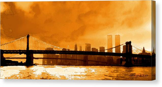 Twin Towers Canvas Print featuring the photograph Majestic Skyline by Ron Regalado