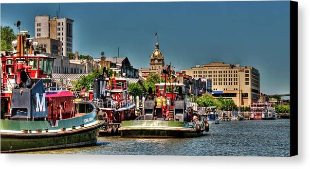 River Canvas Print featuring the photograph Savannah River View by Carol Seefeldt