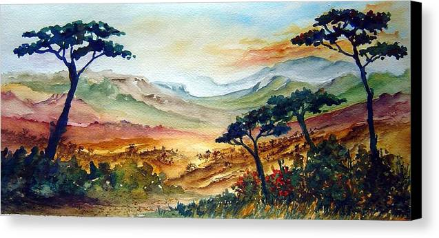 Africa Canvas Print featuring the painting Africa by Joanne Smoley