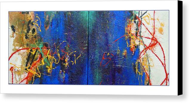 Abstract Canvas Print featuring the painting Duo by Dale Witherow