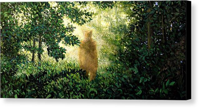 Landscape Canvas Print featuring the painting Encounter by Paul Sierra