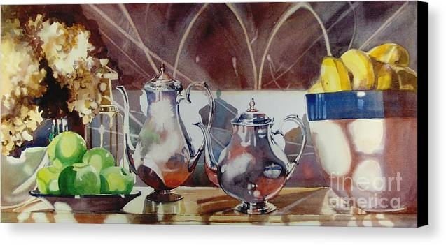 Still Life Canvas Print featuring the painting May I Have This Dance by Elizabeth Carr