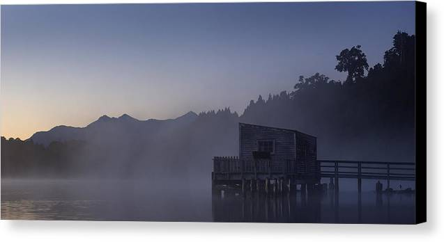 Landscape Canvas Print featuring the photograph Okarito Glow by Peter Prue