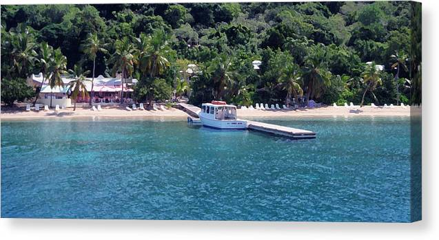 Cooper Island Canvas Print featuring the photograph Welcome To Cooper Island by Ginger Howland
