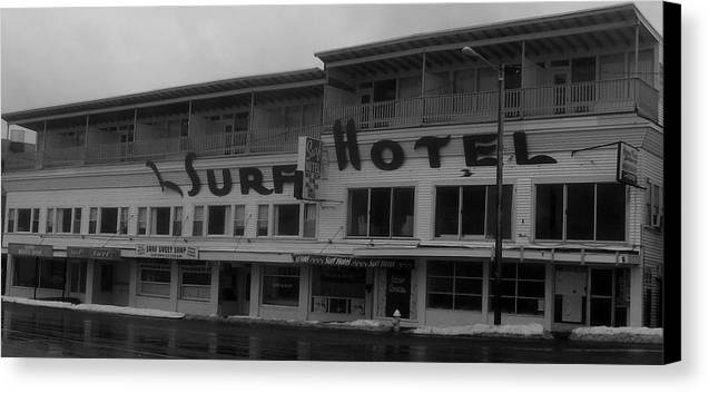 Hotel Canvas Print featuring the photograph Surf Hotel by Lois Lepisto