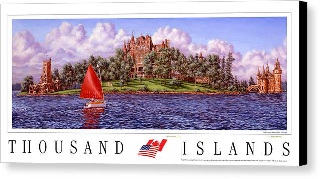 Thousand Islands Canvas Print featuring the print Boldt's Castle Poster by Richard De Wolfe