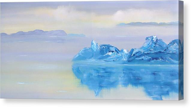 Landscape Canvas Print featuring the painting Untitled 227 by David Snider
