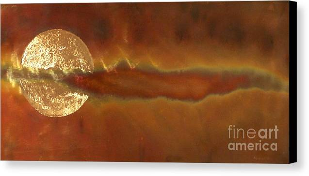 Canvas Print featuring the sculpture Solar Haze by Jeff Williams