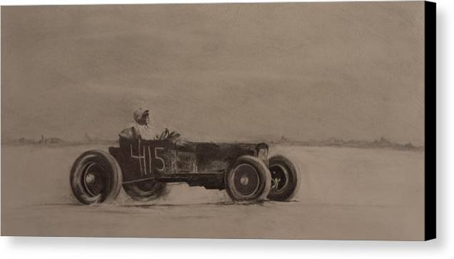 Racing Canvas Print featuring the drawing Bonniville by John C