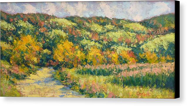 Canvas Print featuring the painting View From Pine Plains by Gene Cadore