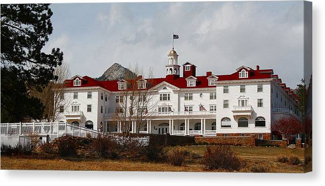 Stephen King Canvas Print featuring the photograph Stanley Hotel by KatagramStudios Photography