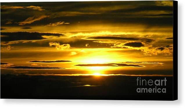 Sunset Canvas Print featuring the photograph Alaskan Sunset by Louise Magno