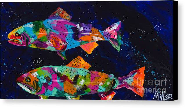 Tracy Miller Canvas Print featuring the painting Cutthroats by Tracy Miller
