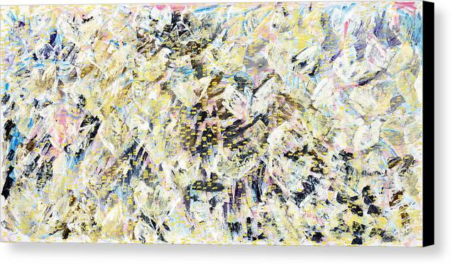 Abstract Canvas Print featuring the painting Flock Of Birds by Joan De Bot