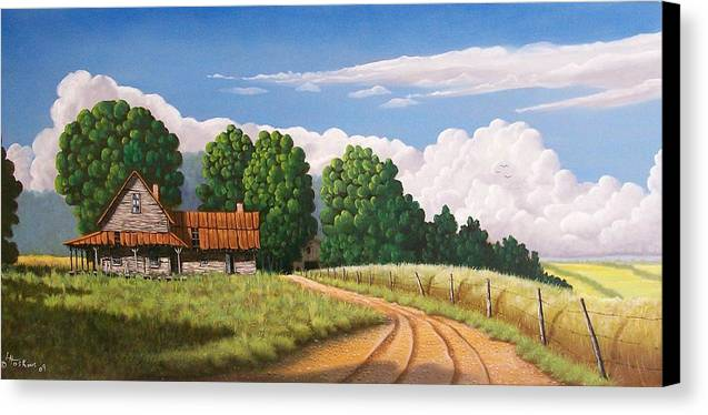 Landscapes Canvas Print featuring the painting Left Behind by Larry Hoskins