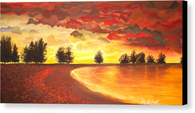 Landscape Canvas Print featuring the painting Only Once by Lori Ulatowski