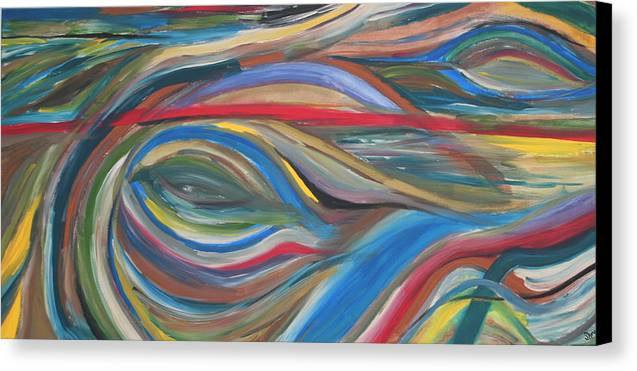 Abstract Artwork Canvas Print featuring the painting The Eye by Shiree Gilmore