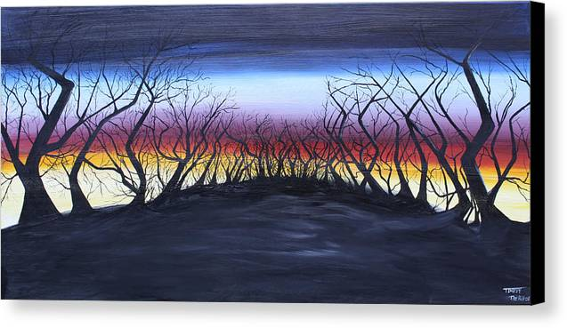 Trees Canvas Print featuring the painting The Hill by Tammy Dunn