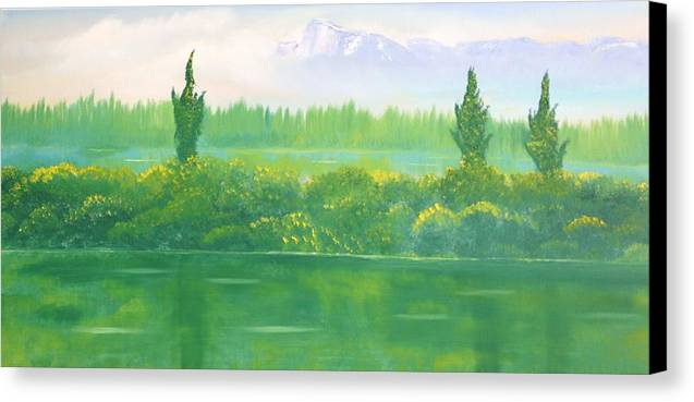 Landscape Canvas Print featuring the painting Untitled 229 by David Snider
