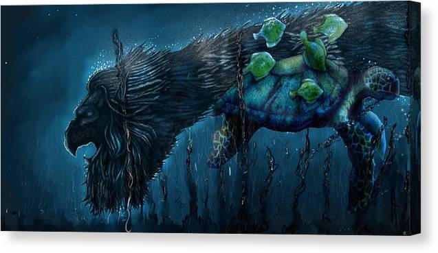 Fantasy Canvas Print featuring the digital art Close Encounters by Erik Loiselle