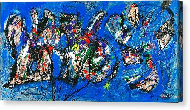 Abstract Canvas Print featuring the painting Urban Landscape by Paul Freidin