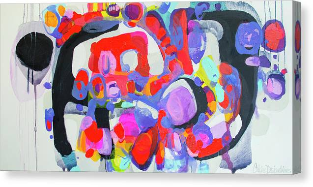 Abstract Canvas Print featuring the painting Try Me by Claire Desjardins