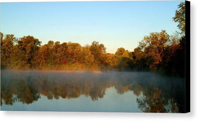 Autumn Canvas Print featuring the photograph 091709-32 by Mike Davis