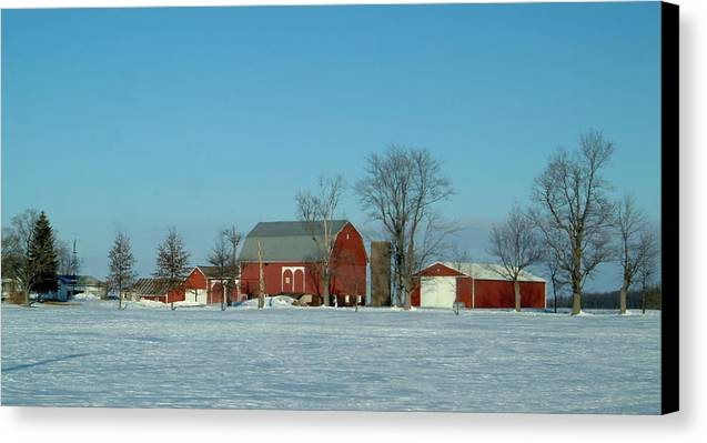 Barn Canvas Print featuring the photograph 020409-3 by Mike Davis