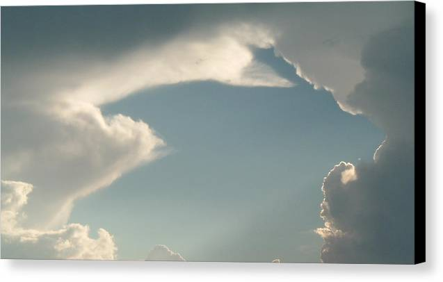 Sky Canvas Print featuring the photograph Atmospheric Barcode 07 7 2008 13 Homage To Michealangelo by Donald Burroughs