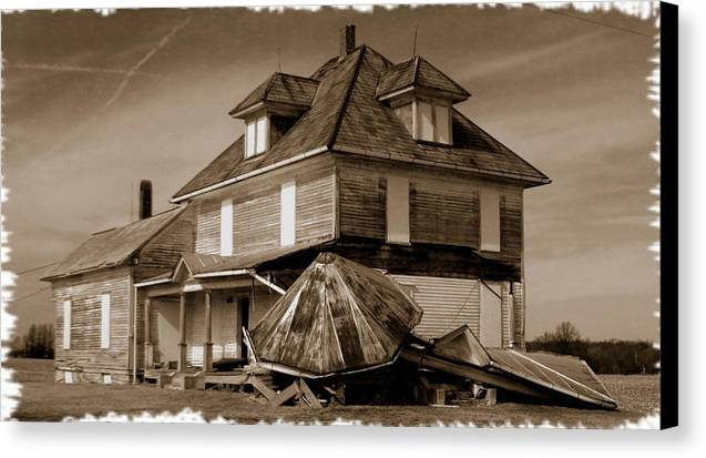House Canvas Print featuring the photograph 021709-22 Once Proud by Mike Davis