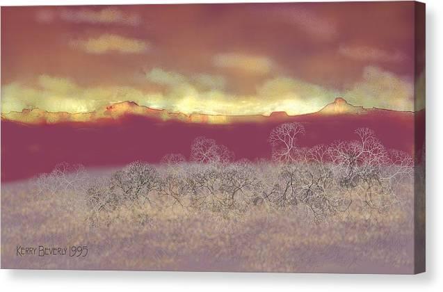Utah Canvas Print featuring the digital art Utah by Kerry Beverly