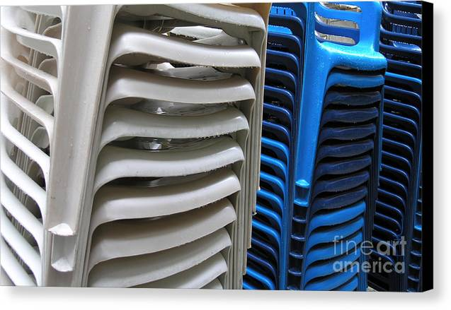 Chair Canvas Print featuring the photograph Stacked Chairs by Carlos Alvim