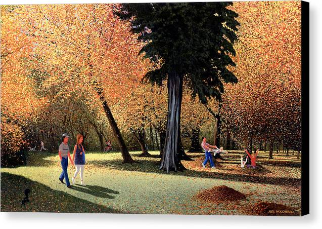 Autumn Canvas Print featuring the painting Season Of Abundance And Joy by Neil Woodward