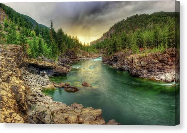 Kootena River Cloudy Sunset by Robert Hosea
