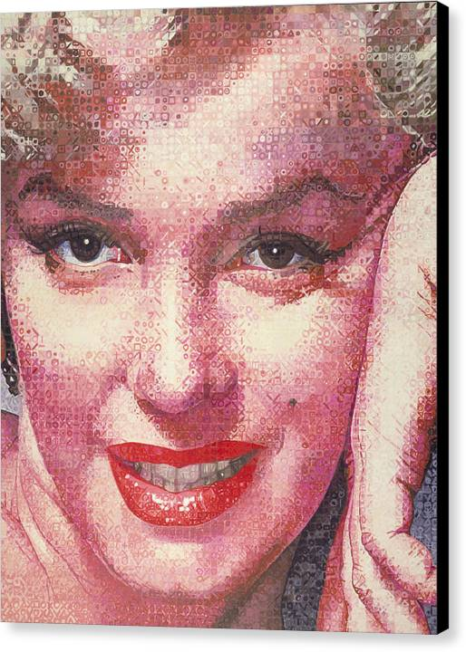Marilyn Monroe Canvas Print featuring the painting Marilyn by Randy Ford