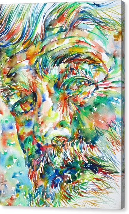 ERNEST HEMINGWAY watercolor portrait.1 by Fabrizio Cassetta