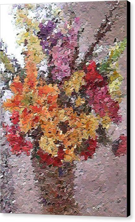 Still Life Canvas Print featuring the painting Floral Arrangement by Don Phillips