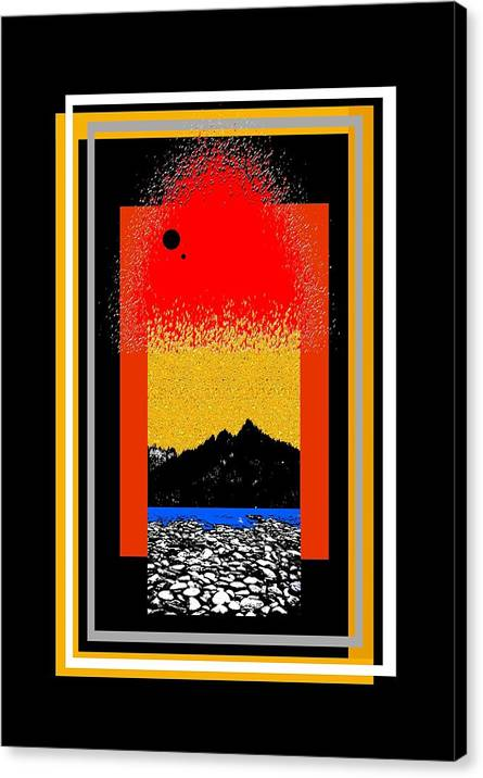 Digital Art Canvas Print featuring the digital art Colorado On Fire by Philip w Maier