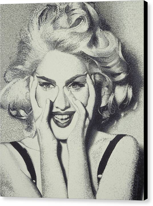 Madonna Canvas Print featuring the painting Madonna by Randy Ford