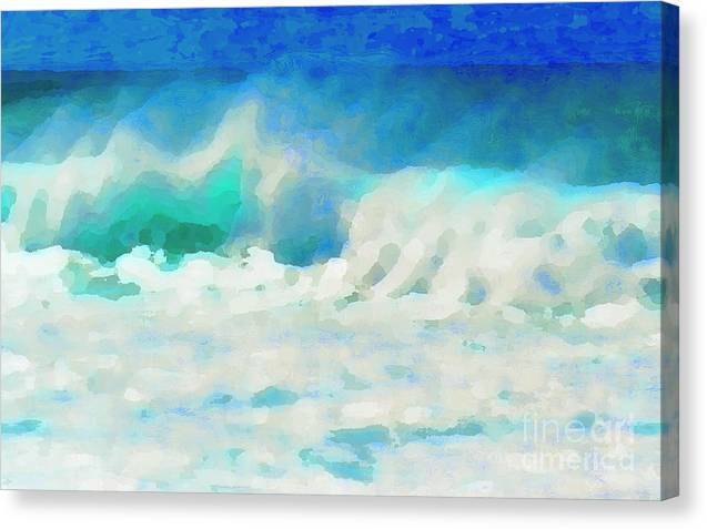 Ocean Canvas Print featuring the photograph Rough Water by James Temple