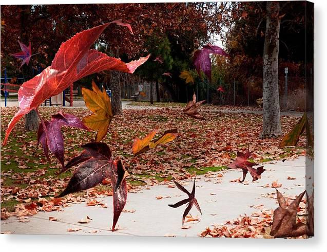 Landscape Canvas Print featuring the photograph Autumn Wind by Richard Gordon