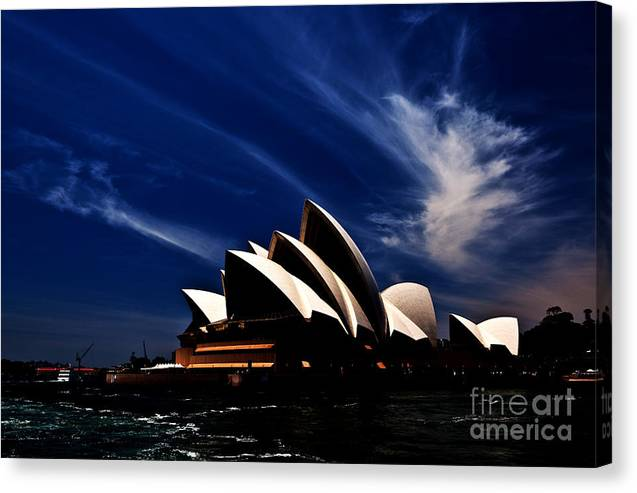 Sydney Opera House Canvas Print featuring the photograph Abstract of Sydney Opera House by Sheila Smart Fine Art Photography