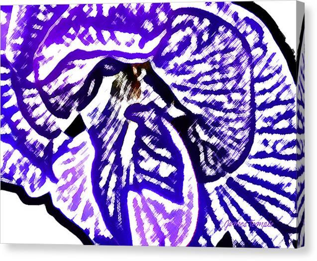 Blue Flower Canvas Print featuring the digital art Blue Flower by James Temple