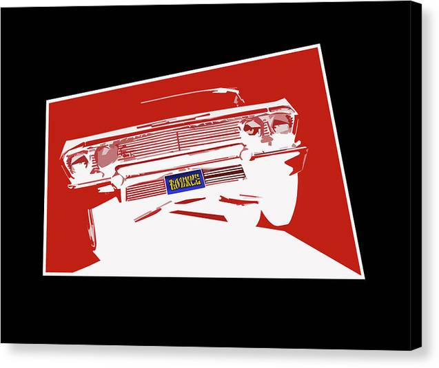 Lowrider Canvas Print featuring the digital art Bounce. '63 Impala lowrider. by Colin Tresadern